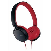 NEW PHILLIPS EARGEAR NOISE ISOLATION HEADPHONES WITH 30MM DRIVERS RED/BLACK - $31.14