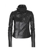 P00105728 classic biker leather jacket  standard original thumbtall