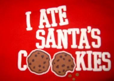 Osh Kosh B'gosh red 4T shirt I ate santas cookies
