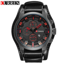 New Watches CURREN Luxury Brand Men Watch Leather Strap Fashion Quartz-Watch Cas - $32.30