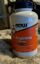 Now Foods L-Arginine 500 Mg 250 Capsules Exp 5/2024 Free Shipping - $16.83