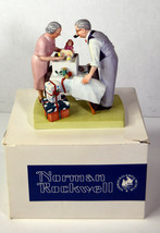 """6"""" Vtg Norman Rockwell 1980 Porcelain Statue Wrapping Christmas Presents... - $37.99"""
