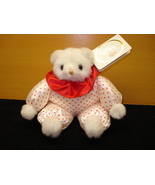 Russ Berrie Teddy Bear Non Jointed Collectible heart outfit - $1.99