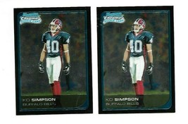 2006 Bowman Chrome Football Card #46 Ko Simpson Rookie - 2-card lot - $1.00