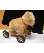 Vintage Hermann Collectible Teddy Bear on Wheels 1984 mohair, vintage te... - $49.99