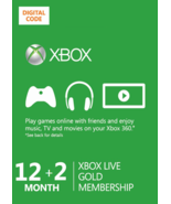 12+2 =14-Month Xbox 360/ONE Live Gold Membership Card Code [email] /b - $72.44