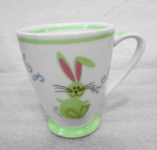 Starbucks Green Bunny Hop Hop on 7 oz White w Green Cup Easter Holiday 2007 - $28.91