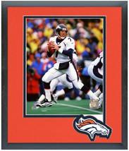 John Elway Denver Broncos Circa 1997 -11 x 14 Team Logo Matted/Framed Photo - $43.55