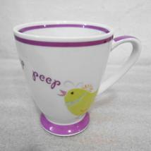 Starbucks Yellow Chick Peep Peep on 7 oz White w Purple Cup Easter Holid... - $32.34