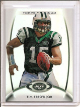 TIM TEBOW Topps PLATINUM NY Jets NFL Trading CARD #15 LE ! - $5.95