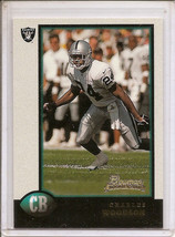 Charles Woodson 1998 Bowman Rookie Card Rc Oakland Raiders Packers No Res ! - $9.75
