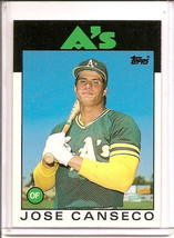 Jose Canseco 1986 Topps Traded Rookie Card Rc #20 T Oakland A's - $7.80