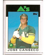 JOSE CANSECO 1986 Topps Traded ROOKIE CARD RC #20T Oakland A'S - $7.80