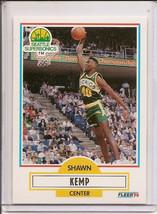 Shawn Kemp Fleer Rookie Card Rc Super Sonics Nba 1990 91 *Mint* Reign Man ! - $4.95