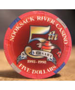 "$5.00 Casino Chip From: ""Nooksack River Casino"" - (sku#2545) - $3.69"