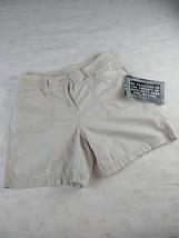 Kim Rogers Women's Elastic Waistband Light Khaki Shorts, Size 12 - $9.09