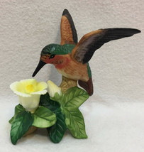 Vintage Glass Hummingbird with Faux Jewel Eyes and Magnet