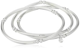 Nine West 'Classics Silver-Tone Set of 3 Bangle Stretch Bracelet - $34.99