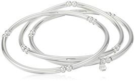 Nine West 'Classics Silver-Tone Set of 3 Bangle Stretch Bracelet - $34.99