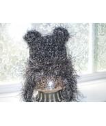 BABY BOY FUZZY GRAY TEDDY BEAR PHOTO PROP HAT - $14.00