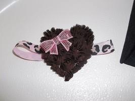 Baby Girlto Toddler Brown And Pink Heart Headband - $12.00