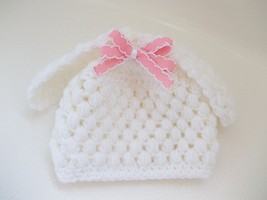 BABY GIRL WHITE LAMB PHOTO PROP HAT - $12.00