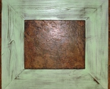 """F002-35 11 x 14 3-1/2"""" Mint Distressed Picture Frame"""