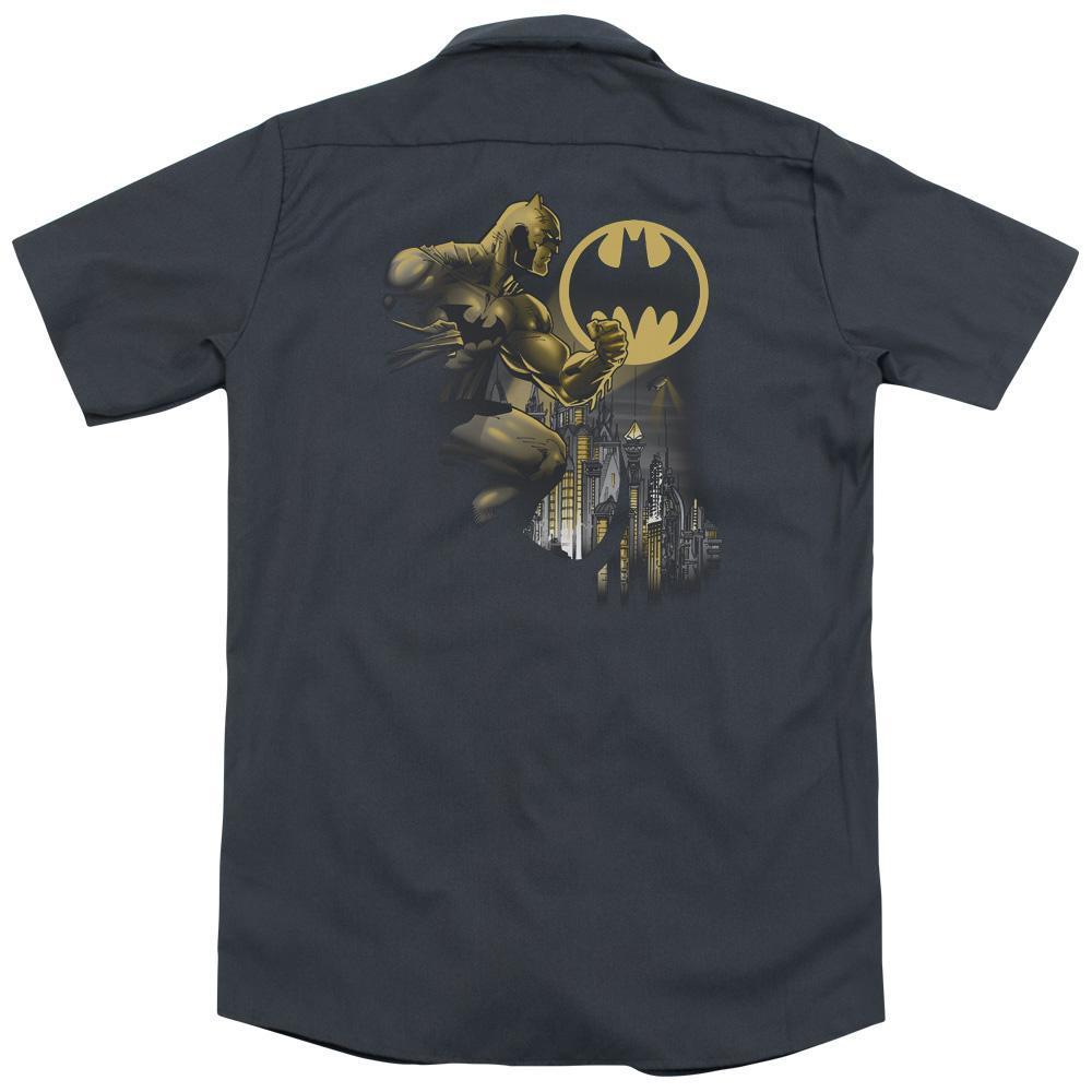 Batman - Bat Signal (Back Print) Adult Work Shirt