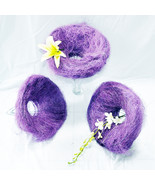 12 pcs Sisal Flowers Bouquet Holder Florist Floral 30cm PURPLE Presen Gift  - $40.00
