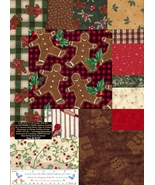 5 Yds. Gingerbread Fabrics, Very Rare Christmas Holiday, Cotton Flannel ... - $71.87