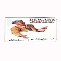 Dewar's Scotch Whisky Vintage Ad Money Clip Rectangle 051 - $11.48