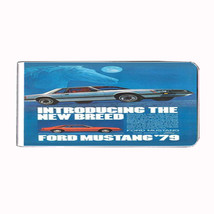 Ford Mustang 1979 Retro Ad Money Clip Rectangle 249 - $11.48