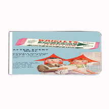 WRIGLEY'S DOUBLEMINT RETRO AD CHEWING GUM Money Clip Rectangle 562 - $11.48