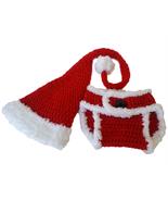 Santa hat, baby, diaper cover, corchet, photo prop, girl, boy, christmas - $30.00