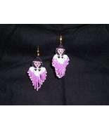 NEW   Handmade Indian Maiden Angel Dangle Seed Bead Earrings - $10.99