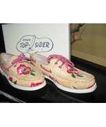 Sperry Top-Sider Raffia Bahama boat shoes pinup RAB tiki oasis VLV 7.5 3... - $79.13