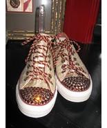 Converse Chucks brocade crystal rhinestone bling sneakers shoes 6.5 37 U... - $156.73