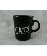 Vintage Cats Black Ceramic Mug Broadway Musical Play 1981 by RUG LTD Cof... - $7.42