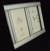 "Aluminum Photo Frame Desk Clock CL-136, Inovative Design, Holds 4"" x 6"" ... - $24.45"