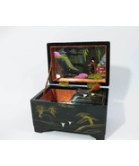 Japanese Hand Painted Black Lacquer Wooden Abal... - $25.00