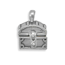Sterling Silver Hinged Prayer Chest Charm - $48.95