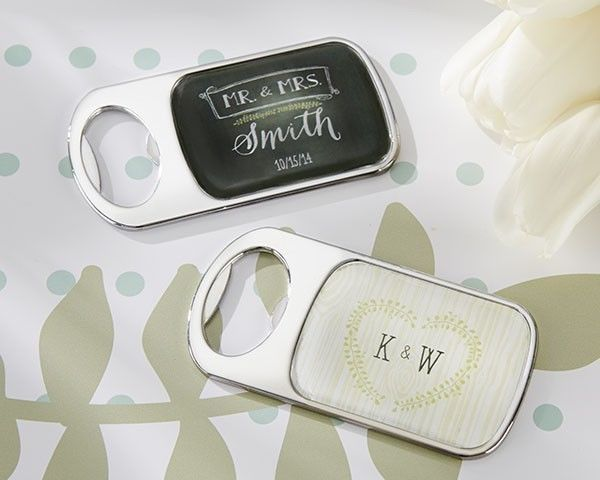 24 Personalized Bottle Openers Rustic Wedding Favors Epoxy Dome Country Party