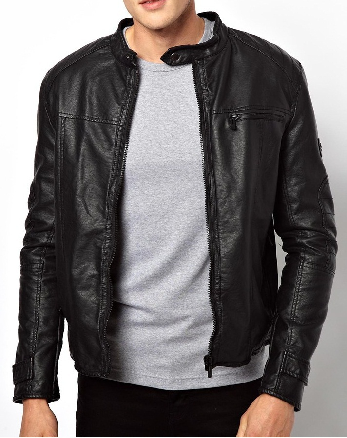 MENS LEATHER JACKET, LEATHER JACKETS MEN'S, BIKER JACKET ...