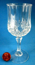 Cut Crystal Lead Crystal Liqueur Cordial Glass Longchamp France Pedestal 1970s - $8.00