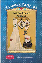 HERITAGE AA FRIENDS APPLIQUE SEWING OVEN MITT Black Americana PATTERN MI... - $14.99