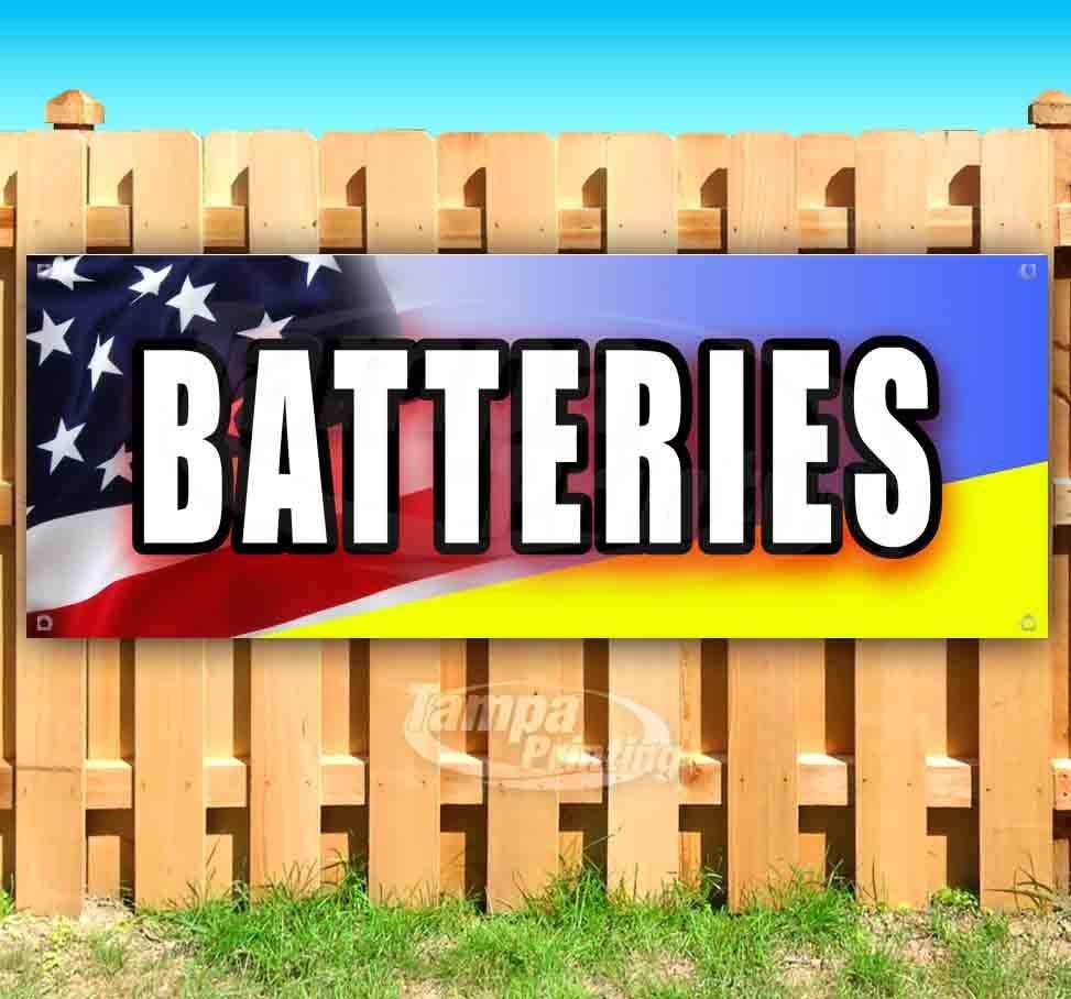 Primary image for BATTERIES Advertising Vinyl Banner Flag Sign Many Sizes MECHANIC REPAIR