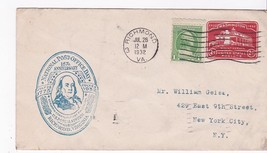 National Post Office Day 157th Anniversary Richmond, Va July 26 1932 - $1.78