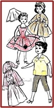 "Vintage Doll Clothing Pattern for 10 1/2"" Fashion Dolls - $5.99"