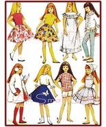 "Vintage Doll Clothing Pattern for 9 1/2"" Skipper No. 4 - $7.99"