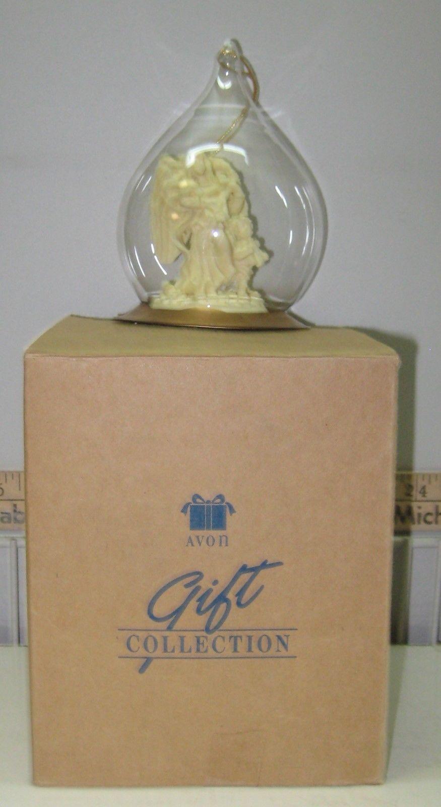 ANGEL ORNAMENT Glass 1996 Avon Original NOS
